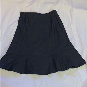 Armani Collezioni Wool Blend Gray Skater Skirt 10